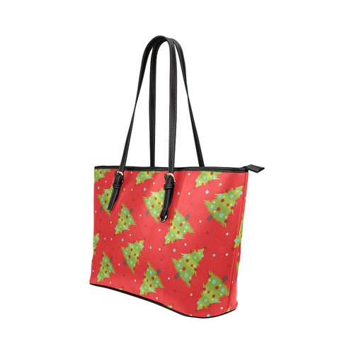 Christmas Tree Leather Tote Bag Small Model 1651 Id