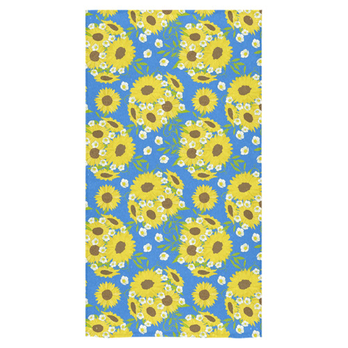 "Blue And Yellow Bathroom Decor: Sunflowers - Blue And Yellow (3) Bath Towel 30""x56"""