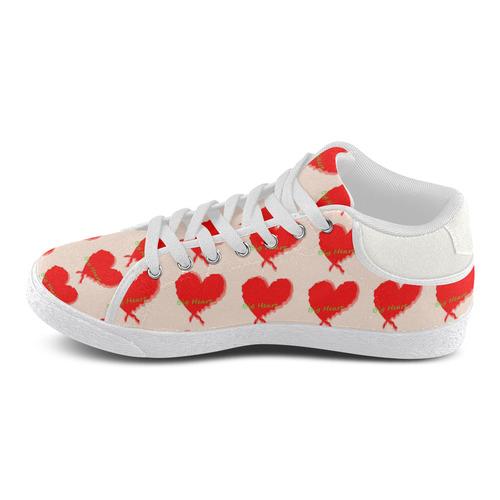 Big Heart Women's Chukka Canvas Shoes (Model 003)