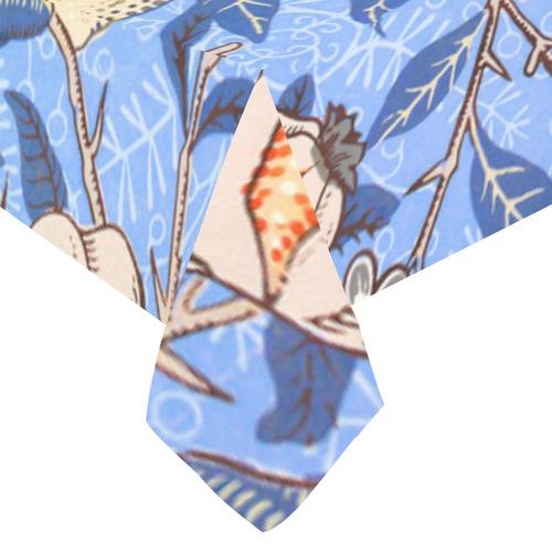 """William Morris Pomegranate Vintage Floral Cotton Linen Tablecloth 60""""x120"""""""