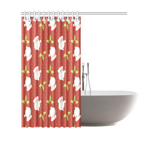 "Santa Claus Shower Curtain 69""x70"""