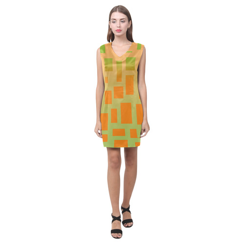 patron 2 Phoebe Sleeveless V-Neck Dress (Model D09)