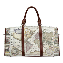 Old world map canvas bag gifts artsadd world old map waterproof travel baglarge model 1639 gumiabroncs Choice Image