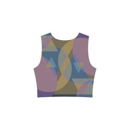 geometry Sleeveless Ice Skater Dress (D19)
