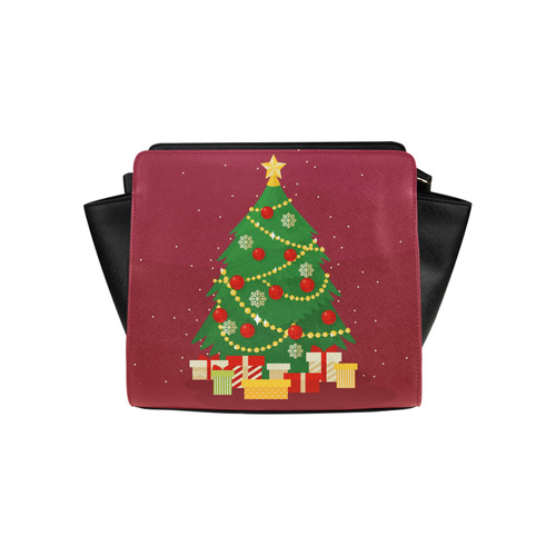 Christmas Tree with Christmas Gifts Holiday Satchel Bag (Model 1635)