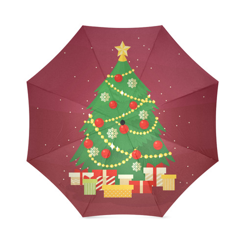 Christmas Tree with Christmas Gifts Holiday Foldable Umbrella (Model U01)