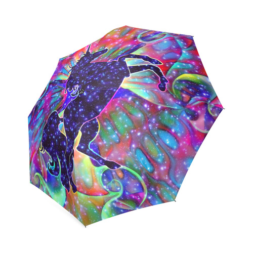 UNICORN OF THE UNIVERSE multicolored Foldable Umbrella