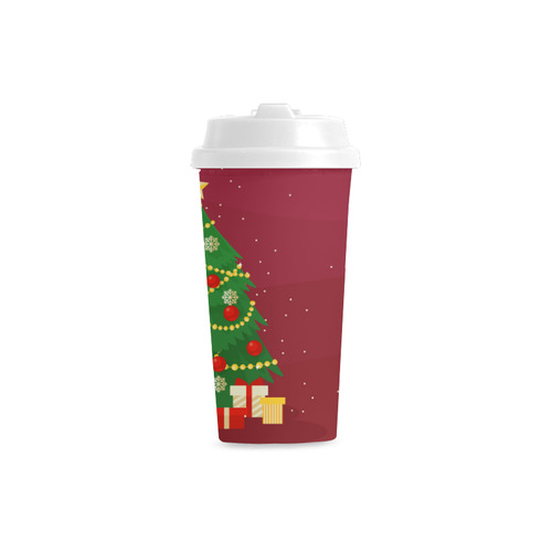 Christmas Tree with Christmas Gifts Holiday Double Wall Plastic Mug