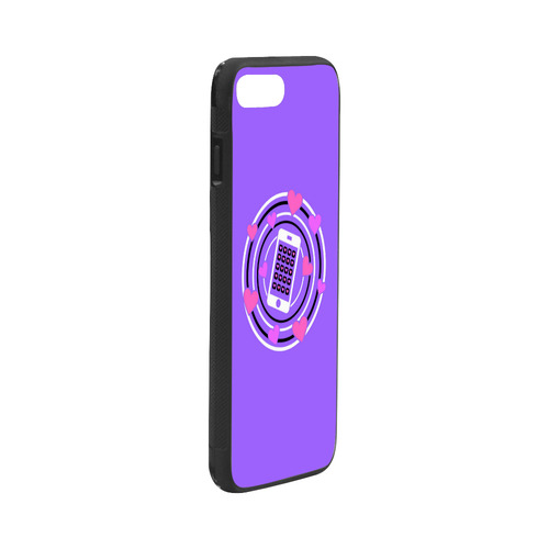 """I Love My Phone in Pink and Purple Rubber Case for iPhone 7 plus (5.5"""")"""