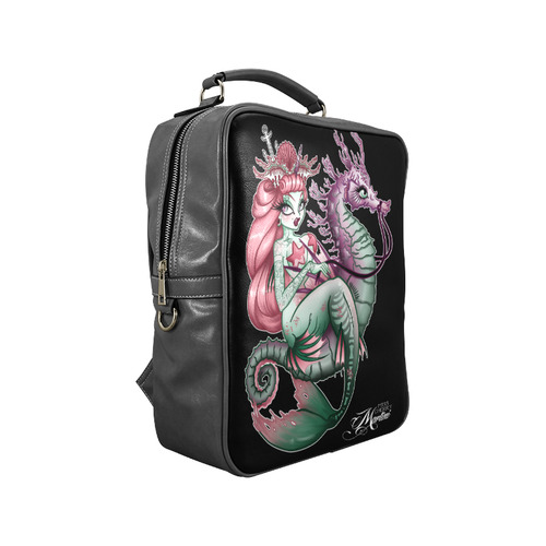 Coral Mermaid Bag Square Backpack (Model 1618)