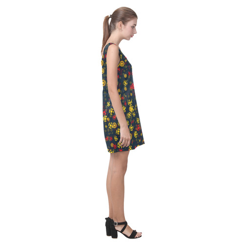 sweet floral 22A Helen Sleeveless Dress (Model D10)