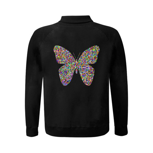 Abstract Triangle Butterfly Men's Baseball jacket (Model H12)