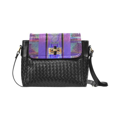 sling bag by Annabellerockz-Arp721 Maya flap over woven shoulder bag (Model 1652)