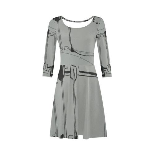 Sxisma Fashion Sleeve Sundress Collection-5 3/4 Sleeve Sundress (D23)