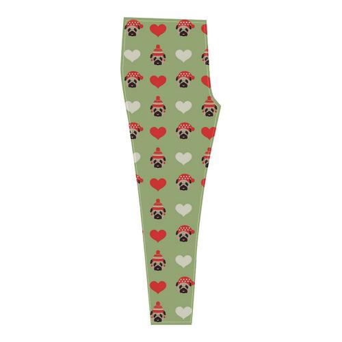 Christmas Pug (4) Cassandra Women's Leggings (Model L01)