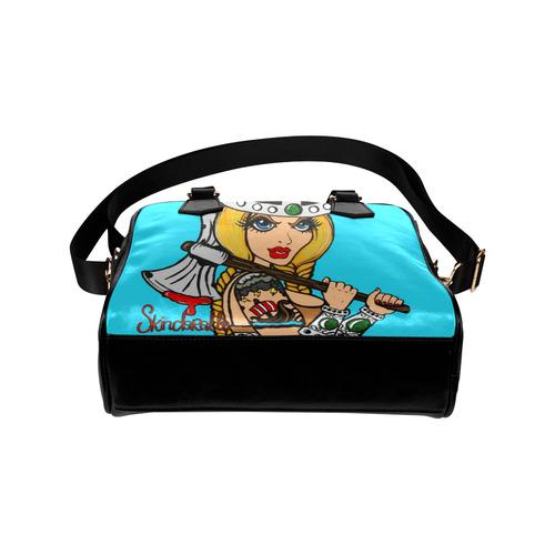 """""""Viking Girl"""" by Skinderella Shoulder Handbag (Model 1634)"""