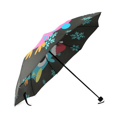 xmas owls_umbrella Foldable Umbrella