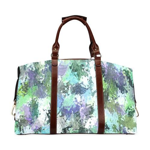 f76dabfccfd0 Green Paint Splatter Classic Travel Bag (Model 1643) Remake