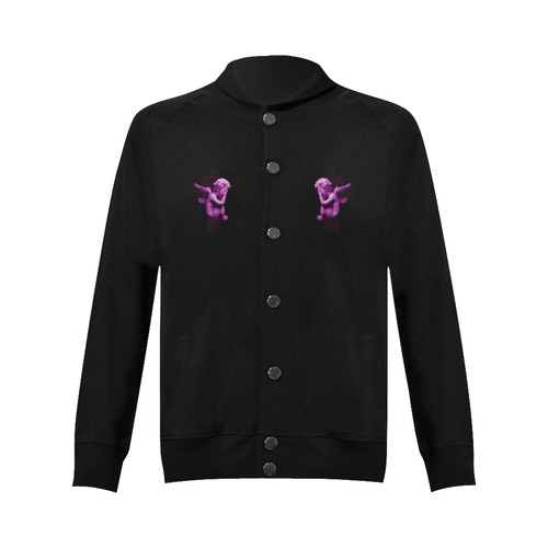 Sad li'l angel Women's Baseball Jacket (Model H12)