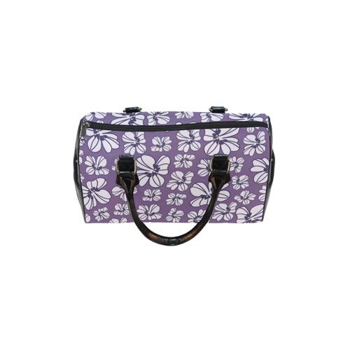 Purple Doodle Flowers Boston Handbag (Model 1621)