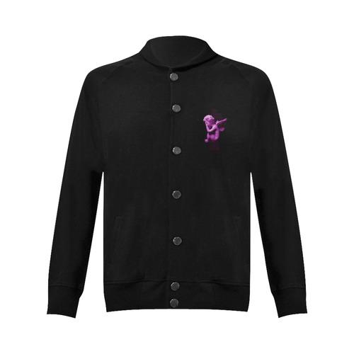 Sad li'l angel Women's Baseball Jacket (Model H12)