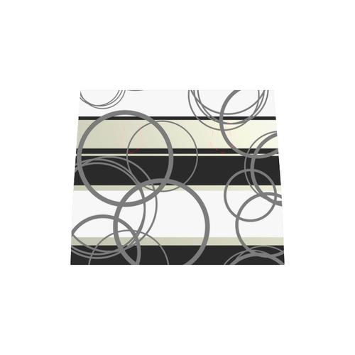 Circles & Stripes Geometric Abstract Design Boston Handbag (Model 1621)