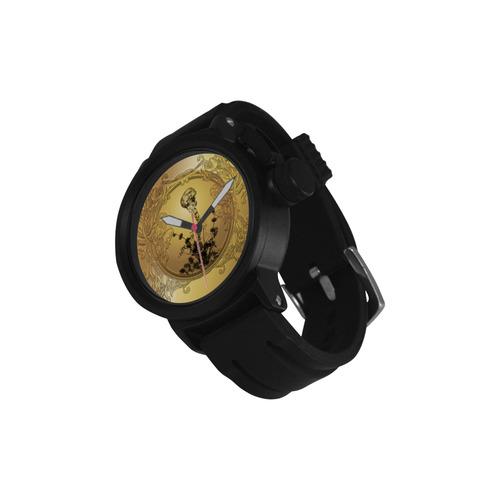 Awesome golden skull Men's Sports Watch(Model 309)