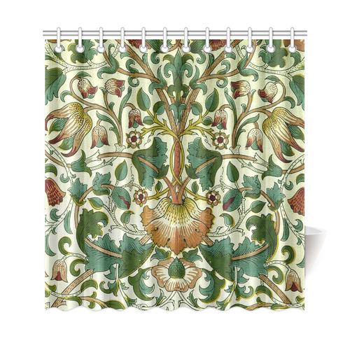 William Morris Floral Vine Wallpaper Shower Curtain 69x72