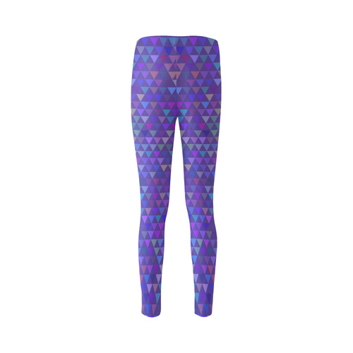 Triangles - Purple (1) Cassandra Women's Leggings (Model L01)