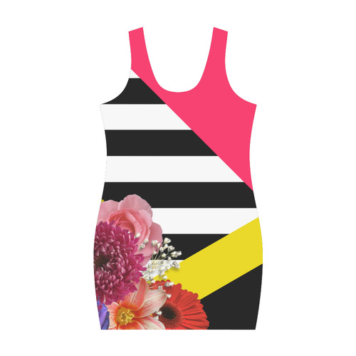 Geometric Shapes Flowers & Stripes Medea Vest Dress (Model D06)
