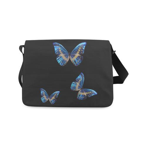 Messenger Bag Painted Butterflies