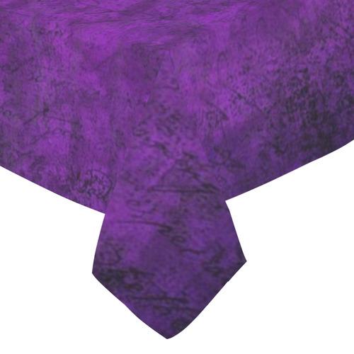 """Purple Cotton Linen Tablecloth 52""""x 70"""""""