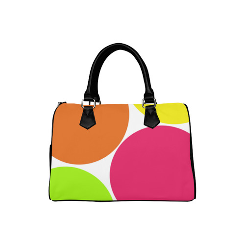Big Colorful Circles Boston Handbag (Model 1621)