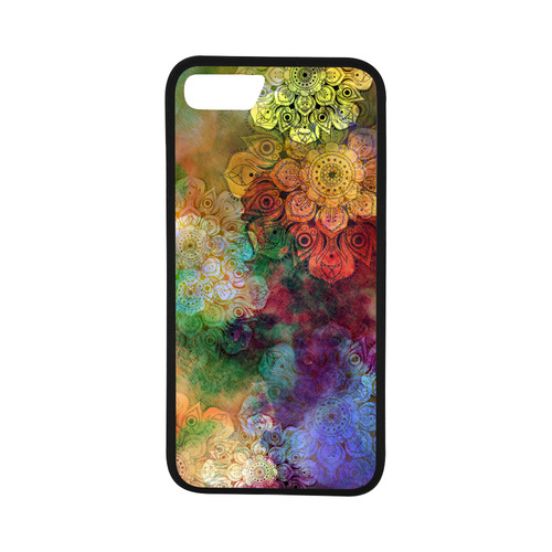 "WATERCOLOR MANDALA dark grunge style pattern Rubber Case for iPhone 7 (4.7"")"