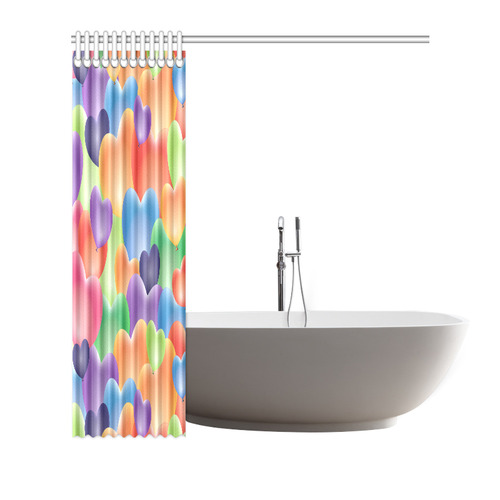 """Funny_Hearts_20161202_by_FeelGood Shower Curtain 66""""x72"""""""
