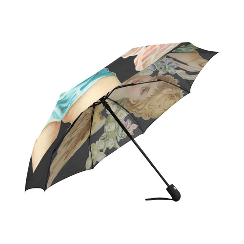 Vintage Easter Angel With Flowers Auto-Foldable Umbrella (Model U04)