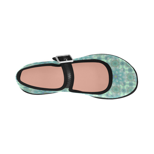 Turquoise Happiness Virgo Instep Deep Mouth Shoes