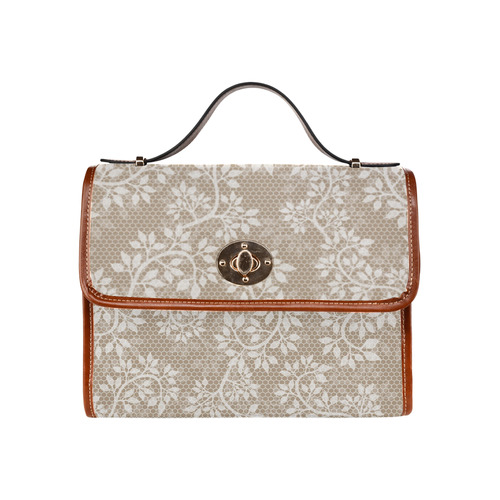 Romantic Floral Lace (10) Waterproof Canvas Bag/All Over Print (Model 1641)