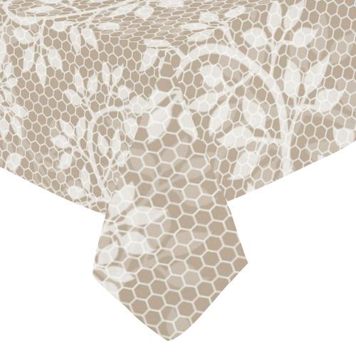 """Romantic Floral Lace (10) Cotton Linen Tablecloth 52""""x 70"""""""