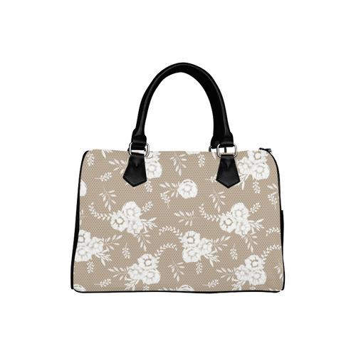 Romantic Floral Lace (1) Boston Handbag (Model 1621)