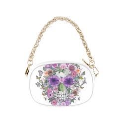 Skull pink flower gifts artsadd flower skull pink orangeviolett chain purse model 1626 mightylinksfo