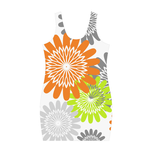 Warm Flower Stencils Medea Vest Dress (Model D06)