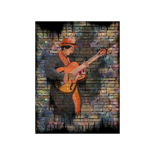 """I love Jazz Art Guitar Art By Juleez Poster 18""""x24"""""""