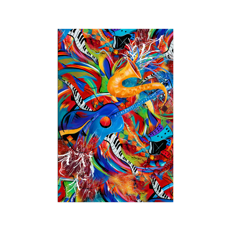 Guitar Piano Art Print Poster 20 X30