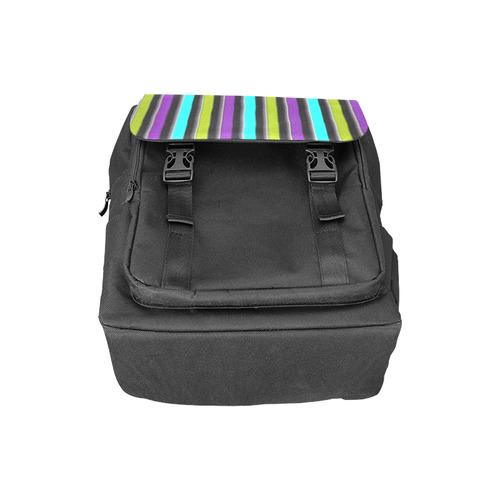 retro stripe 1 Casual Shoulders Backpack (Model 1623)