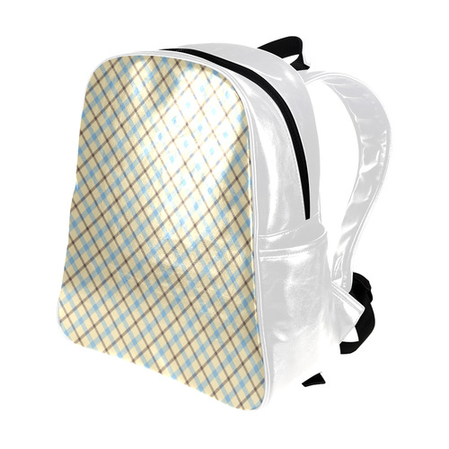 Plaid 2 (Tartan) Multi-Pockets Backpack (Model 1636)