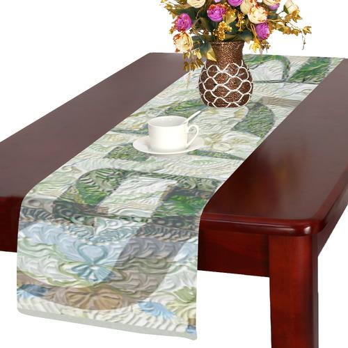 -20X30-   שלום בעברית ובאנגלית-5 Table Runner 14x72 inch