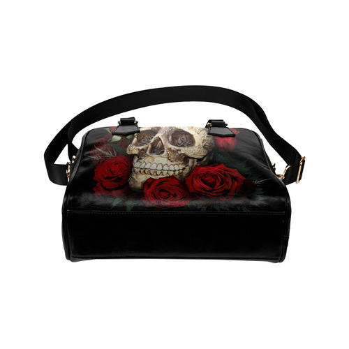 red-rose-skull Shoulder Handbag (Model 1634)