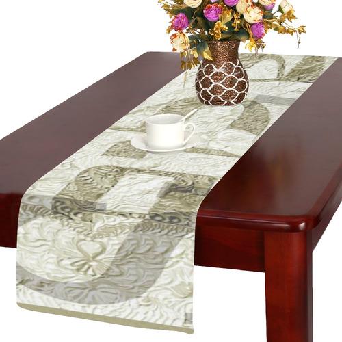 -20X30-   שלום בעברית ובאנגלית-9 Table Runner 14x72 inch