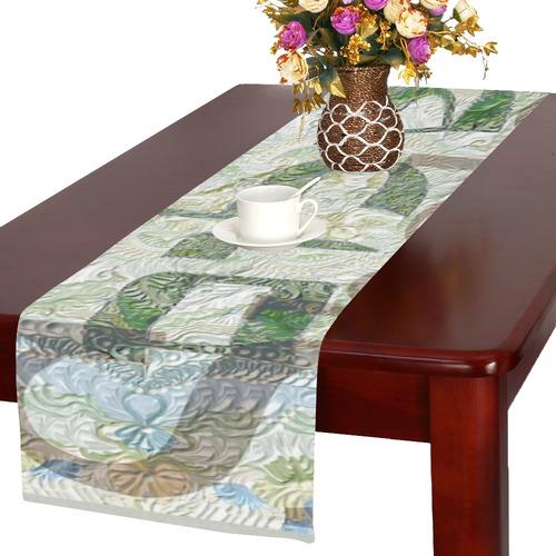 -20X30-   שלום בעברית ובאנגלית-5 Table Runner 16x72 inch